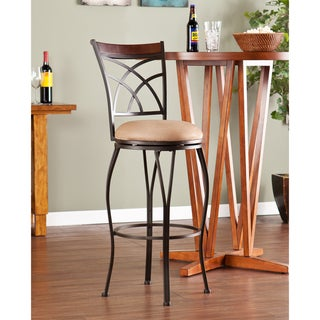 Copper Grove Traditional Swivel Walnut Brown Counter Stool