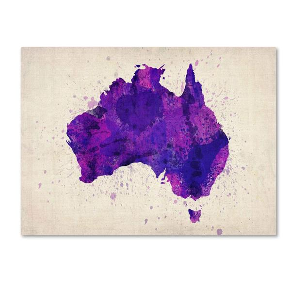 Michael tompsett australia paint splashes map canvas art multi michael tompsett x27australia paint splashes mapx27 gumiabroncs Image collections
