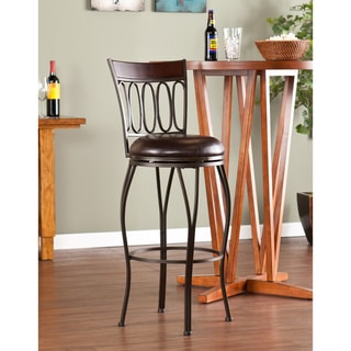 Traditional Swivel Walnut Brown Bar Stool
