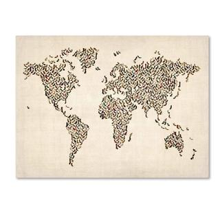 Michael Tompsett 'Ladies Shoes World Map' Canvas Art