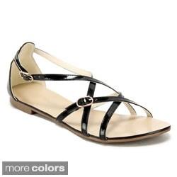 Ann Creek Women's 'Isla' Strappy Flat Sandals