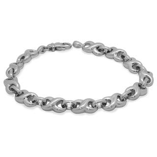 Gioelli Sterling Silver Infinity Bracelet