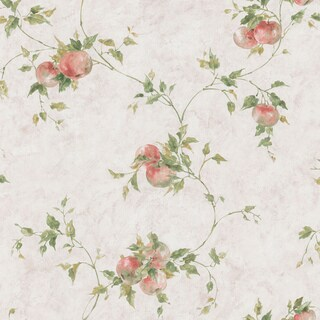 Brewster Home Fashions Taupe Fruit Vine Wallpaper