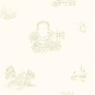 Brewster Home Fashions Cream Cottage Garden Wallpaper