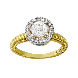 Beverly Hills Charm 14k Gold 1/2ct TDW Diamond Engagement Ring