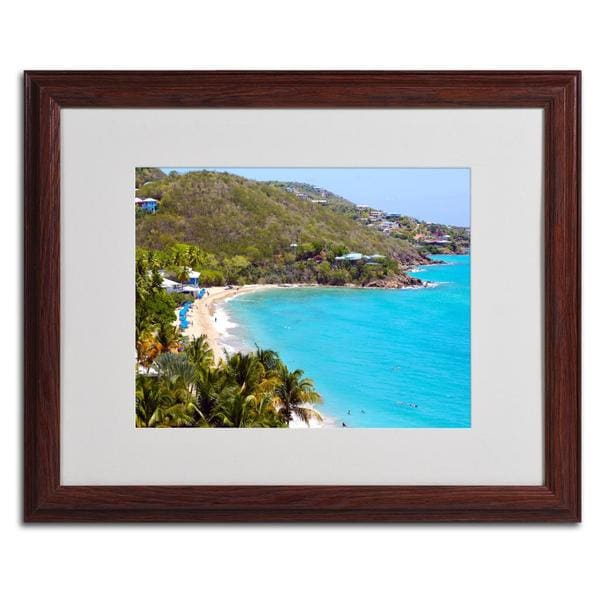CATeyes 'Virgin Islands 10' Framed Matted Giclee Art