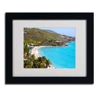 CATeyes 'Virgin Islands 10' Framed Matted Art - Blue/Green