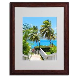 CATeyes 'Virgin Islands 3' Framed Matted Art