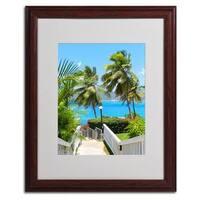 CATeyes 'Virgin Islands 3' Framed Matted Art