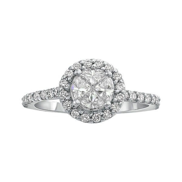 Beverly Hills Charm 14k Gold 3/4ct TDW Composite Diamond Engagement Ring