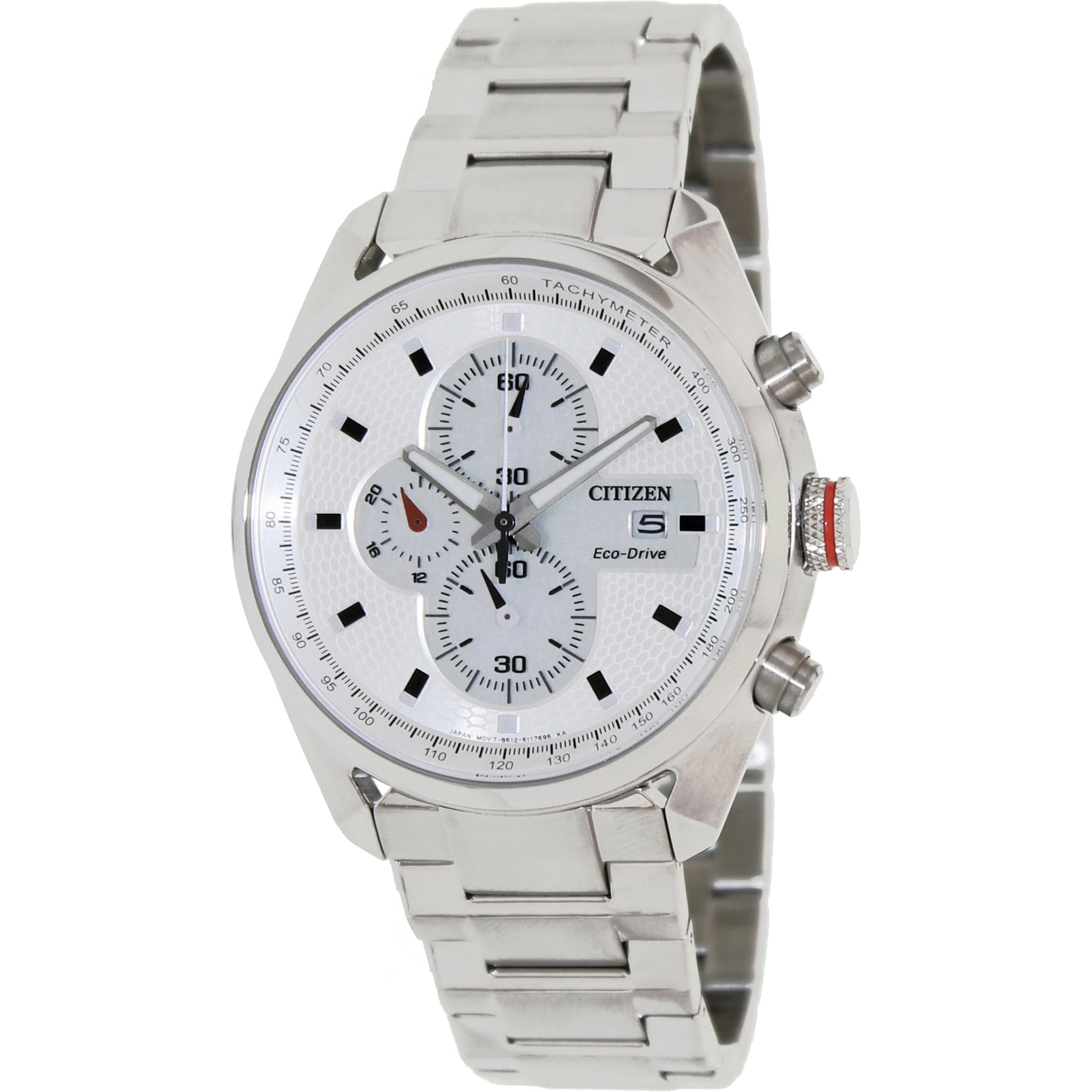 be8ac5cee Shop Citizen Men's 'Eco-Drive ' Silvertone Stainless Steel White Dial Watch  - Free Shipping Today - Overstock - 8134331