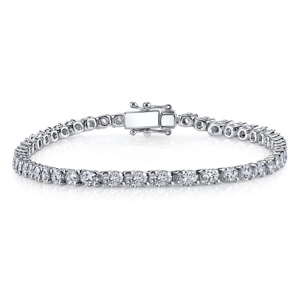 18k White Gold 13ct TDW Diamond Tennis Bracelet (H-I, SI1-SI2)