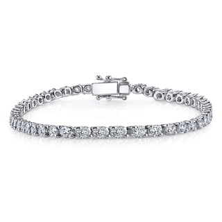 18k White Gold 13ct TDW Diamond Tennis Bracelet (H-I, SI1-SI2)