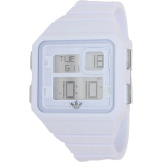 Adidas Men's 'Curitiba ADH2771' White Rubber Digital Dial Quartz Watch