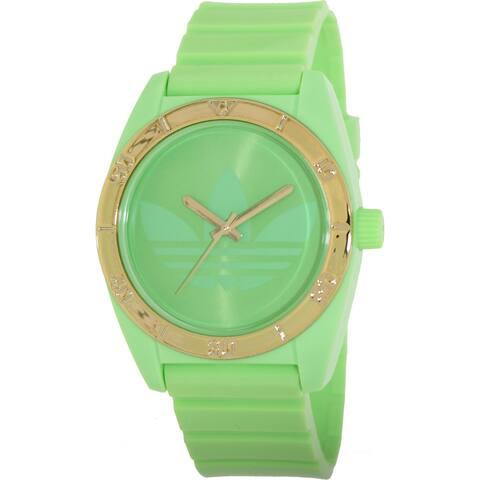 320223fa3e6 Adidas Men s  Santiago  Green  Goldtone Watch