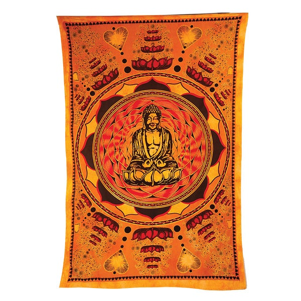 Love Lotus and Buddha Tapestry (India)