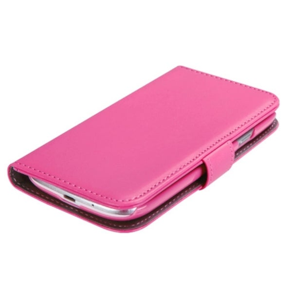 INSTEN Hot Pink Wallet Phone Case Cover for Samsung Galaxy S III/ S3