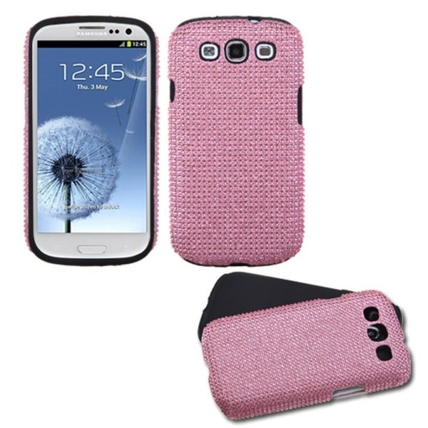 INSTEN Pink Diamond Fusion Phone Case Cover for Samsung Galaxy S III/ 3