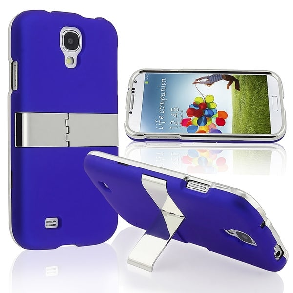 BasAcc Blue With Chrome Stand Case for Samsung© Galaxy S IV/ S4