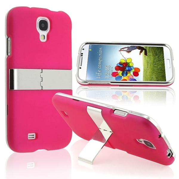 BasAcc Hot Pink With Chrome Stand Case for Samsung© Galaxy S IV/ S4