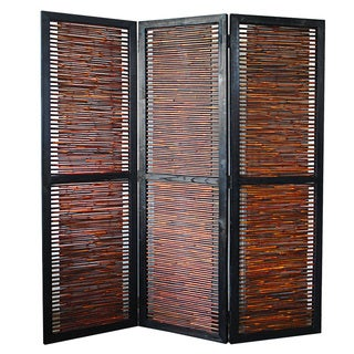 Handmade Screen Gems 3-panel Horizontal Bamboo Screen/ Room Dividers (China)