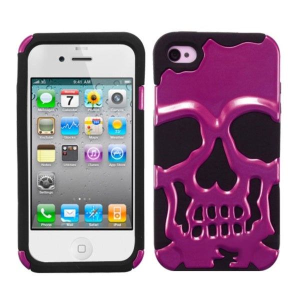 INSTEN Skullcap Hybrid Phone Case Cover for Apple iPhone 4S/ 4