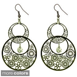 Kate Marie Plated Floral Pattern Fashion Earrings