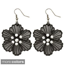 Kate Marie Plated Rhinestone Vintage Floral Fashion Earrings