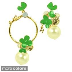 Kate Marie Rhinestone and Pearl Fashion Earring