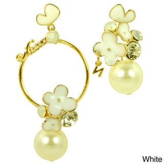 Kate Marie Rhinestone and Pearl Fashion Earring (4 options available)