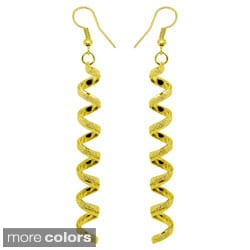 Kate Marie Fashion Long Swirl Earrings