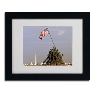 CATeyes 'Marine Corps Memorial' Framed Matted Giclee Art