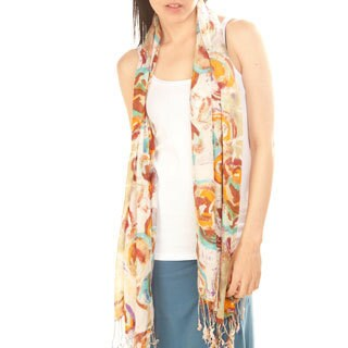 Handmade Patch Paint Summer Scarf (India)