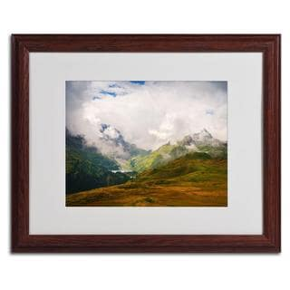 Philippe Sainte-Laudy 'Peaceful Switzerland' Framed Matted Art