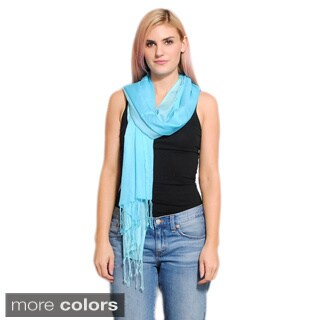 Handmade Classic Shaded Scarf with Tassels (India)
