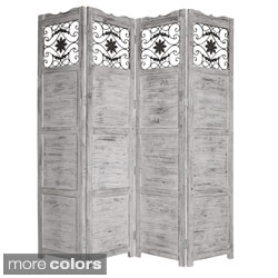 Handmade Salisbury 4-panel Wooden Screen (China)
