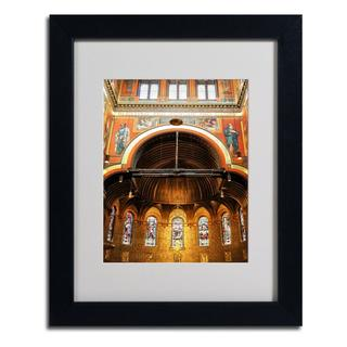 CATeyes 'Trinity Church' Framed Matted Art