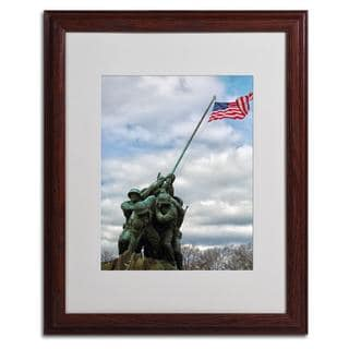 CATeyes 'Marine Corps Memorial 2' Framed Matted Giclee Art