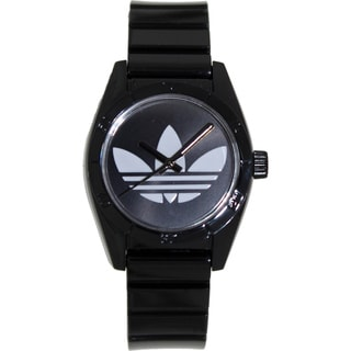 Adidas Women's Santiago ADH2776 Black Plastic Quartz Watch with White Dial