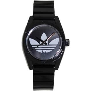 Adidas Women's Santiago ADH2776 Black Plastic Quartz Watch with White Dial|https://ak1.ostkcdn.com/images/products/8134831/8134831/Adidas-Womens-Santiago-ADH2776-Black-Plastic-Quartz-Watch-with-White-Dial-P15479230.jpg?impolicy=medium