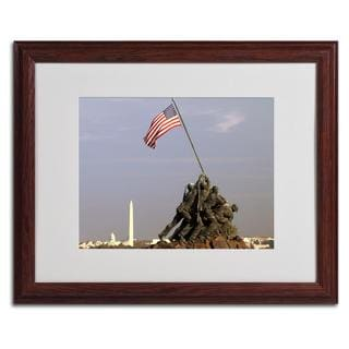 CATeyes 'Marine Corps Memorial' Framed Matted Art