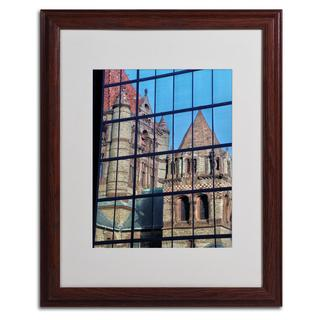 CATeyes 'Trinity Church Reflection' Framed Matted Giclee Art
