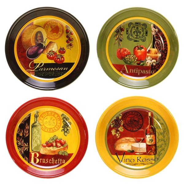 Certified International Zesty Foods Soup/ Pasta Bowls (Set of 4)