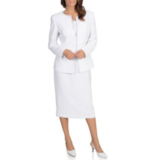 Giovanna Signature Women's Embellished 2-piece Washable Skirt Suit