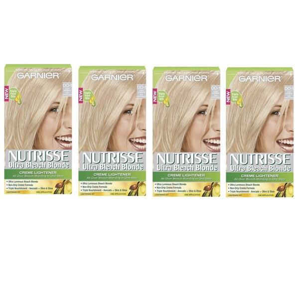 Garnier Nutrisse Ultra Bleach Blonde Hair Lightening Kit (Pack of 4)
