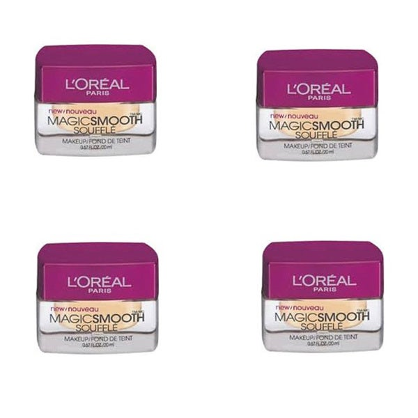 L'Oreal MagicSmooth Souffle Classic Ivory 512 Foundation (Pack of 4)