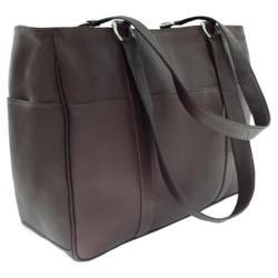 Women's Piel Leather Medium Shopping Bag 8747 Chocolate Leather