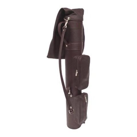 Piel Leather Executive Golf Travel Bag 8240 Chocolate Leather