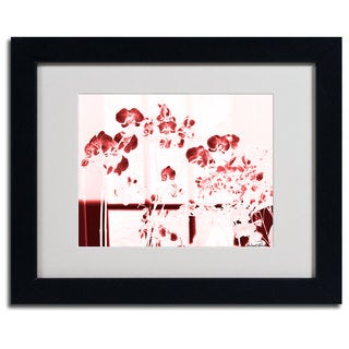 Miguel Paredes ''Red Orchids' Framed Matted Art