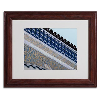 Miguel Paredes 'Rooftop' Framed Matted Art